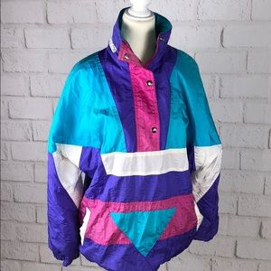Vintage 1980's pull over jacket